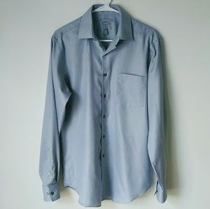 Van Heusen Fitted Pique Button Down Wrinkle Free